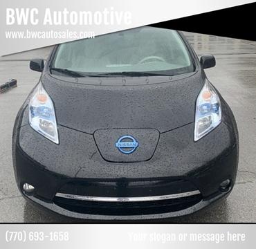 2012 Nissan LEAF SL for sale at BWC Automotive in Kennesaw GA