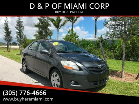 2007 Toyota Yaris for sale at D & P OF MIAMI CORP in Miami FL
