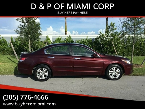 2011 Honda Accord for sale at D & P OF MIAMI CORP in Miami FL