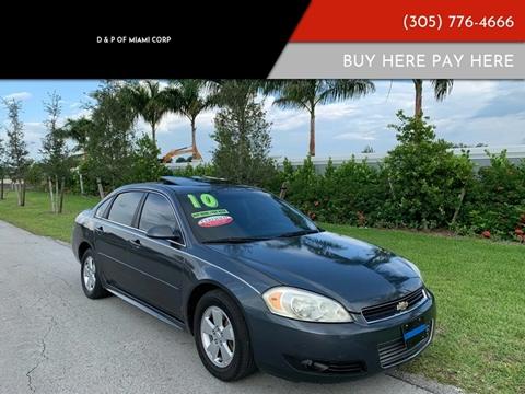 2010 Chevrolet Impala for sale at D & P OF MIAMI CORP in Miami FL