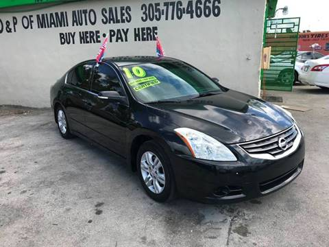 2010 Nissan Altima for sale at D & P OF MIAMI CORP in Miami FL