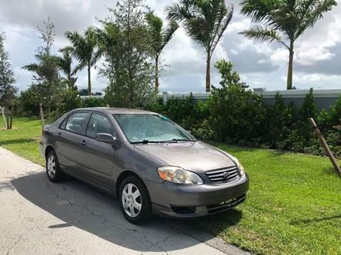 2004 Toyota Corolla for sale at D & P OF MIAMI CORP in Miami FL