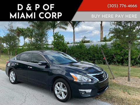 2013 Nissan Altima for sale at D & P OF MIAMI CORP in Miami FL