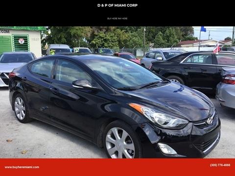 2013 Hyundai Elantra for sale at D & P OF MIAMI CORP in Miami FL