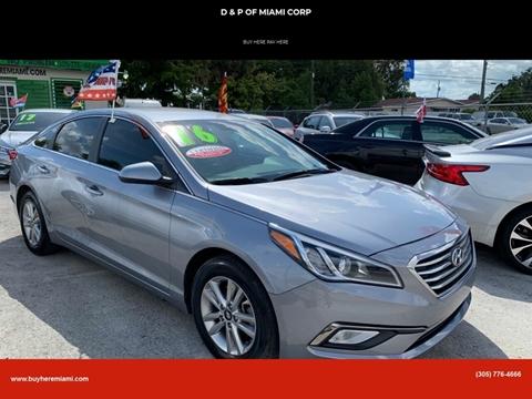 2016 Hyundai Sonata for sale at D & P OF MIAMI CORP in Miami FL