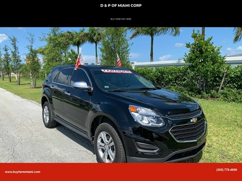 2017 Chevrolet Equinox for sale at D & P OF MIAMI CORP in Miami FL