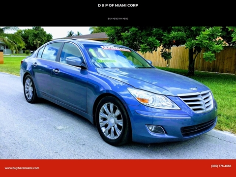 2011 Hyundai Genesis for sale at D & P OF MIAMI CORP in Miami FL
