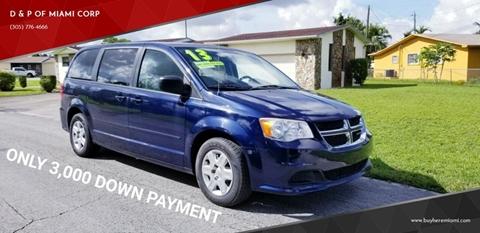 2013 Dodge Grand Caravan for sale at D & P OF MIAMI CORP in Miami FL