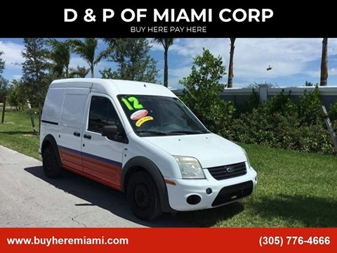 2012 Ford Transit Connect for sale at D & P OF MIAMI CORP in Miami FL