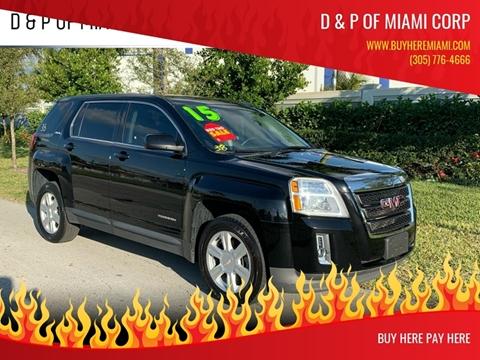 2015 GMC Terrain for sale at D & P OF MIAMI CORP in Miami FL