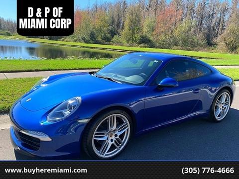 2012 Porsche 911 for sale at D & P OF MIAMI CORP in Miami FL