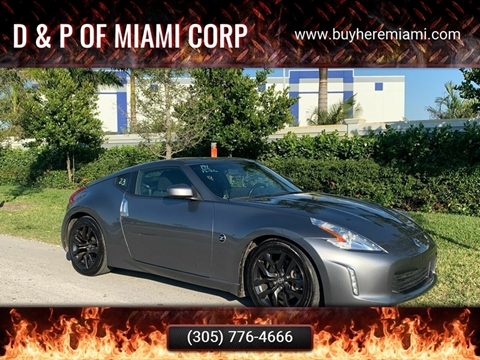 2017 Nissan 370Z for sale at D & P OF MIAMI CORP in Miami FL