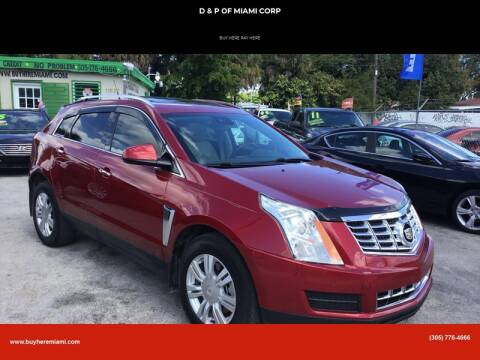 2014 Cadillac SRX for sale at D & P OF MIAMI CORP in Miami FL