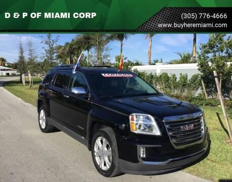 2016 GMC Terrain for sale at D & P OF MIAMI CORP in Miami FL