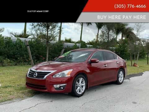 2015 Nissan Altima for sale at D & P OF MIAMI CORP in Miami FL