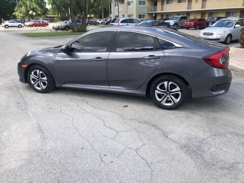 2018 Honda Civic for sale at D & P OF MIAMI CORP in Miami FL