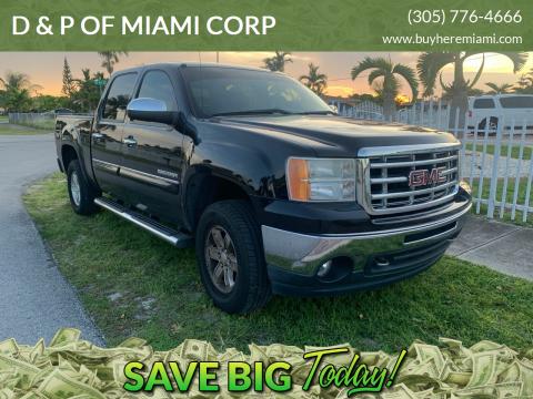 2011 GMC Sierra 1500 for sale at D & P OF MIAMI CORP in Miami FL