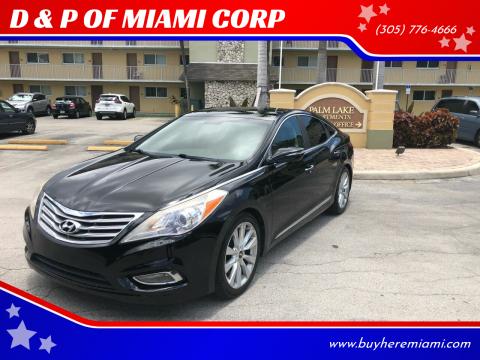 2013 Hyundai Azera for sale at D & P OF MIAMI CORP in Miami FL