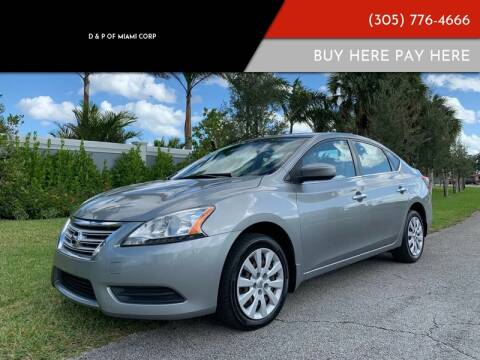 2013 Nissan Sentra for sale at D & P OF MIAMI CORP in Miami FL