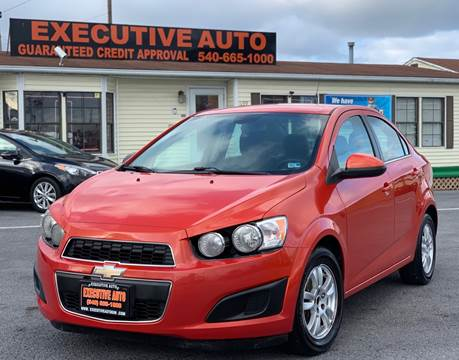 2013 Chevrolet Sonic for sale at Executive Auto in Winchester VA