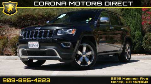 2015 Jeep Grand Cherokee for sale in Norco, CA