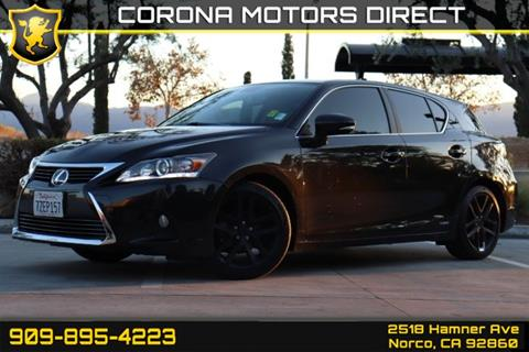 2017 Lexus CT 200h for sale in Norco, CA