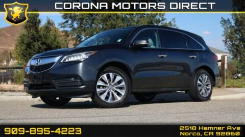 2016 Acura MDX for sale in Norco, CA