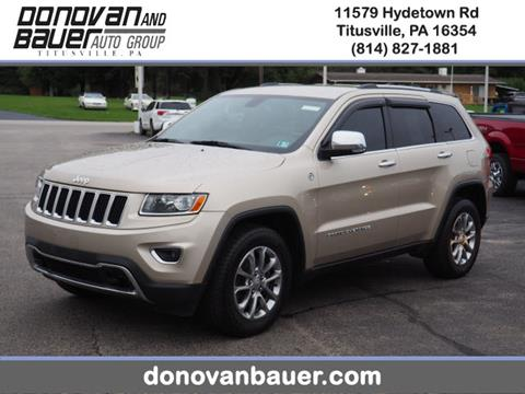 2014 Jeep Grand Cherokee for sale in Titusville, PA