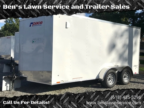 2019 Pace American OB7X14TE2 for sale at Ben's Lawn Service and Trailer Sales in Benton IL