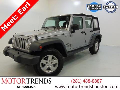 2016 Jeep Wrangler Unlimited for sale in Alvin, TX