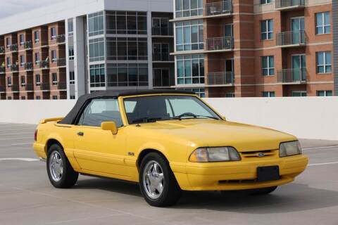 1993 Ford Mustang LX 5.0 for sale at Southwest Sports Cars, LLC in The Woodlands TX