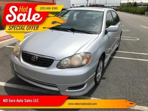 2008 Toyota Corolla for sale at MD Euro Auto Sales LLC in Hasbrouck Heights NJ