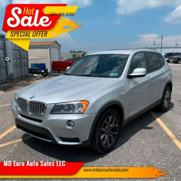 2011 BMW X3 for sale at MD Euro Auto Sales LLC in Hasbrouck Heights NJ