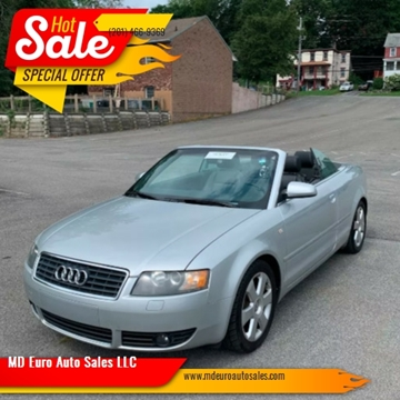 2005 Audi A4 for sale at MD Euro Auto Sales LLC in Hasbrouck Heights NJ