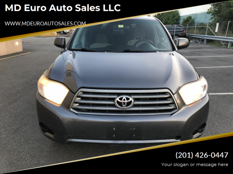 2010 Toyota Highlander for sale at MD Euro Auto Sales LLC in Hasbrouck Heights NJ