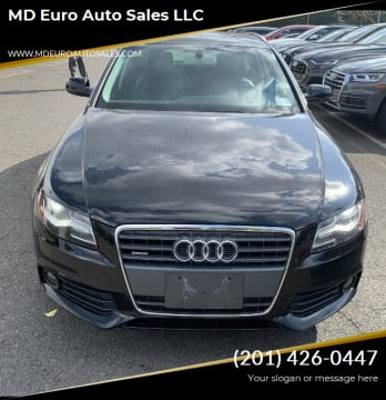 2012 Audi A4 for sale at MD Euro Auto Sales LLC in Hasbrouck Heights NJ