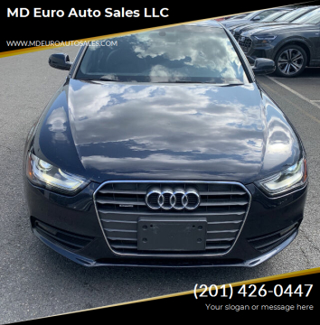 2013 Audi A4 for sale at MD Euro Auto Sales LLC in Hasbrouck Heights NJ
