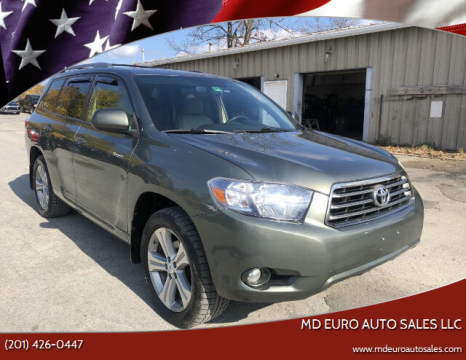 2008 Toyota Highlander for sale at MD Euro Auto Sales LLC in Hasbrouck Heights NJ