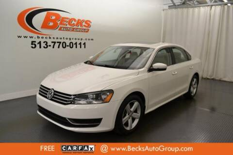 2013 Volkswagen Passat for sale at Becks Auto Group in Mason OH