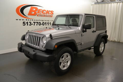 2016 Jeep Wrangler for sale at Becks Auto Group in Mason OH