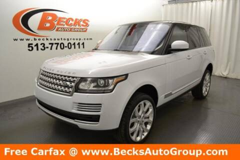 2016 Land Rover Range Rover for sale at Becks Auto Group in Mason OH