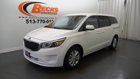 2016 Kia Sedona for sale at Becks Auto Group in Mason OH