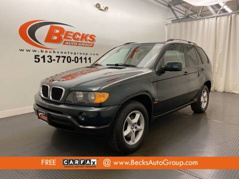 2001 BMW X5 for sale at Becks Auto Group in Mason OH