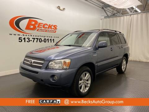 2007 Toyota Highlander Hybrid for sale at Becks Auto Group in Mason OH