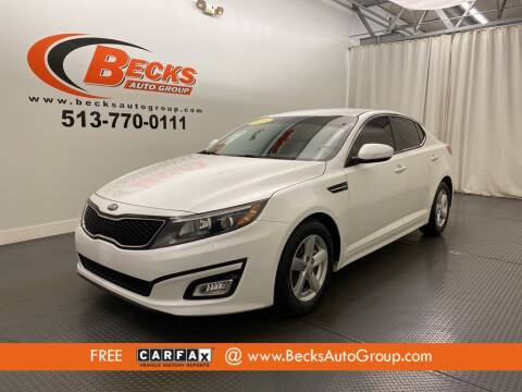 2015 Kia Optima for sale at Becks Auto Group in Mason OH