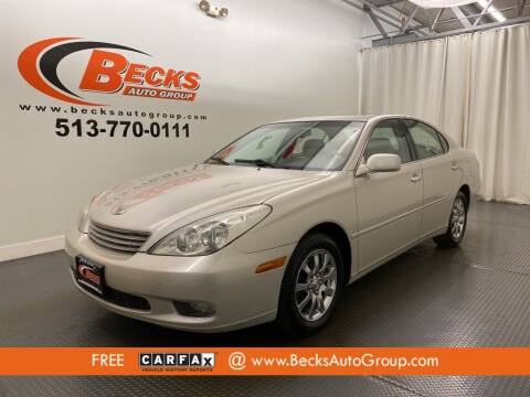 2002 Lexus ES 300 for sale at Becks Auto Group in Mason OH