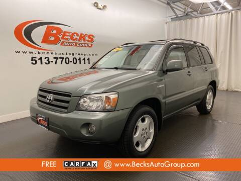 2005 Toyota Highlander for sale at Becks Auto Group in Mason OH