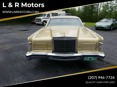 1978 Lincoln Continental for sale in Greene, ME