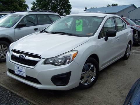 2013 Subaru Impreza for sale at B & J Auto Sales in Tunnelton WV