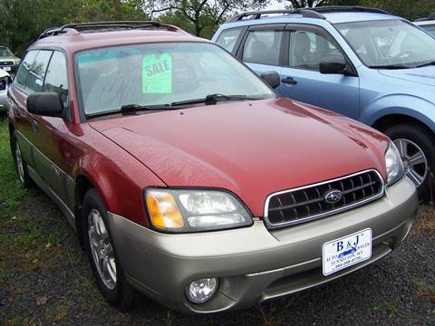 2003 Subaru Outback for sale at B & J Auto Sales in Tunnelton WV